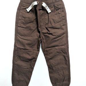 Mini Boden Boys Brown Joggers Skinny Pants Fall
